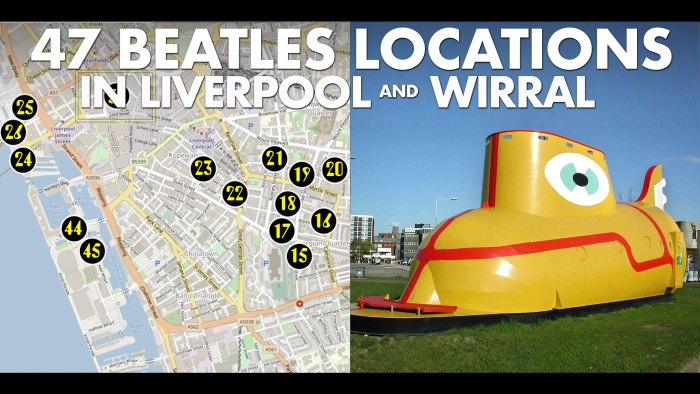 47 Beatles locations in Liverpool and Wirral