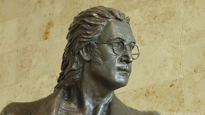 Liverpool John Lennon Airport statue