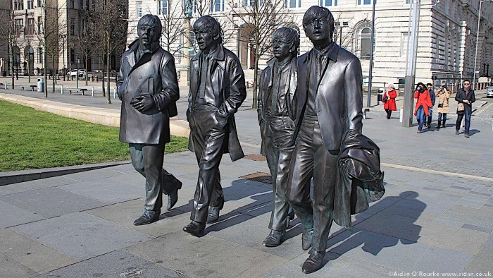 The Beatles Statue Liverpool Pier Head