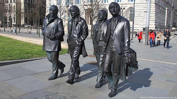 The Beatles Statue Liverpool Pier Head