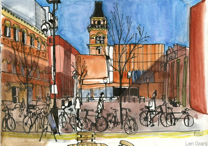 Cutting Room Square Ancoats by Len Grant