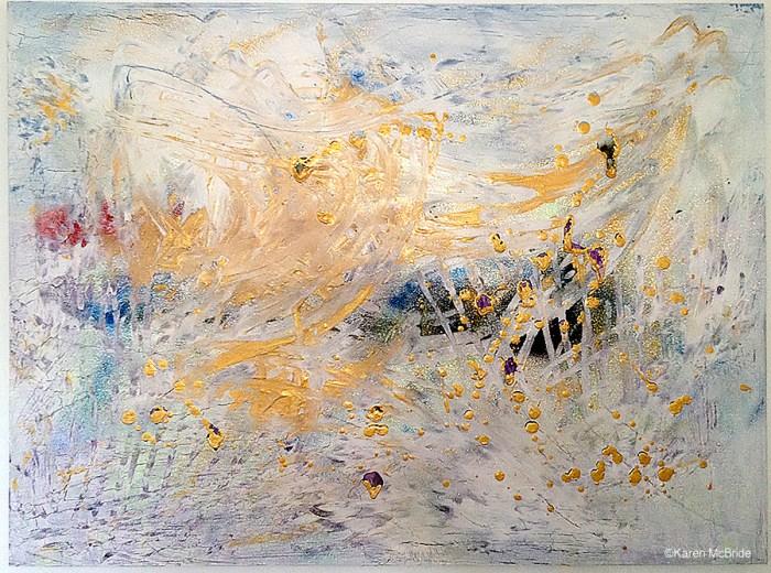 Abstract artwork by Karen McBride