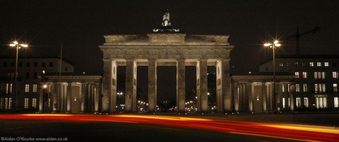 Berlin Brandenburg Gate at night