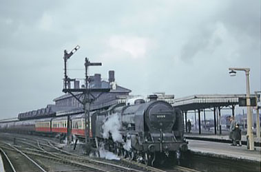 Eddie Johnson Stockport Edgeley Station 1950s