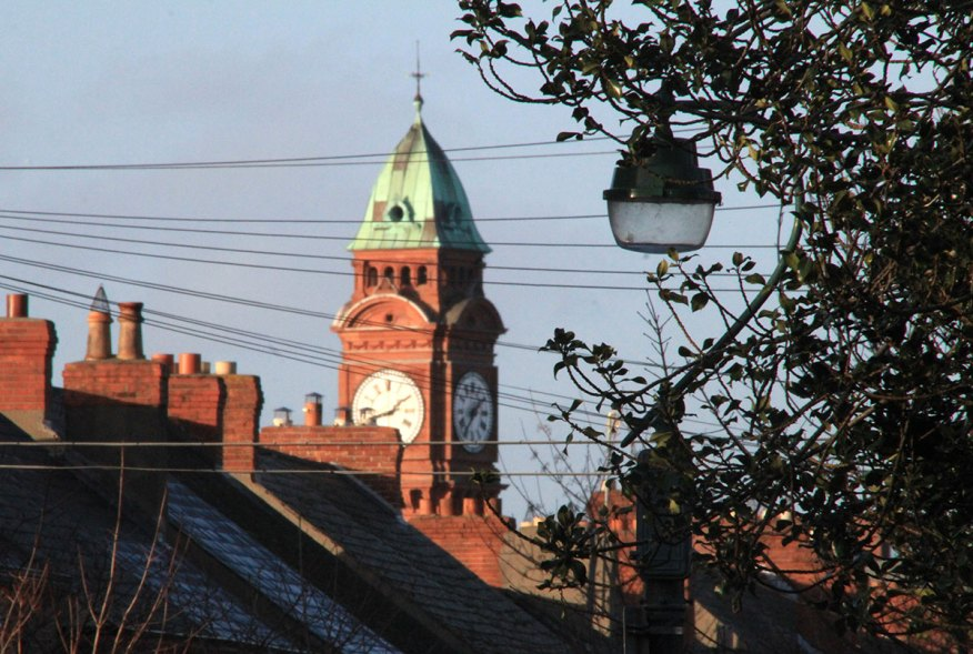 Rathmines town hall visible over rooftops