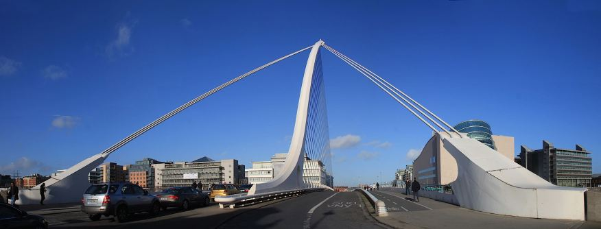 Samuel Beckett Bridge looking from south to north
