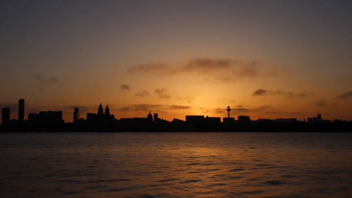 Liverpool Waterfront at sunrise