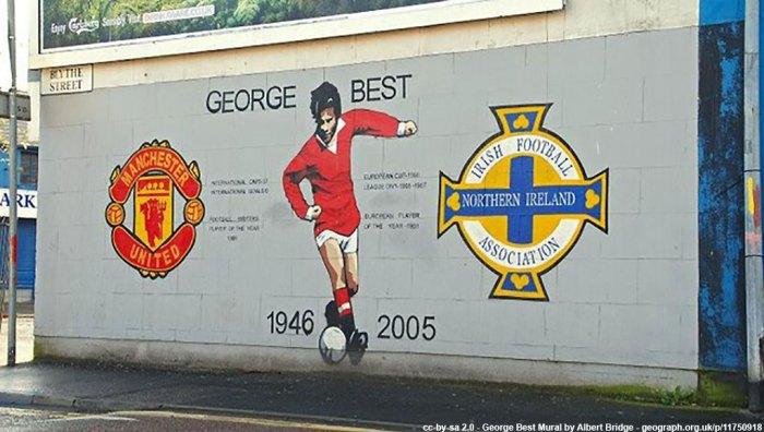 George Best mural Blythe St Belfast