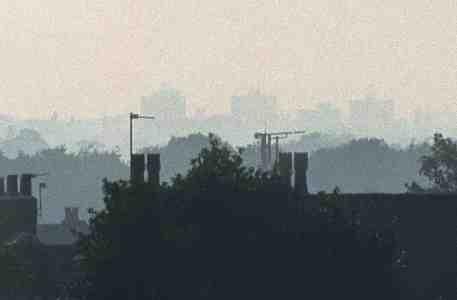 Grainy view over Cheadle heath