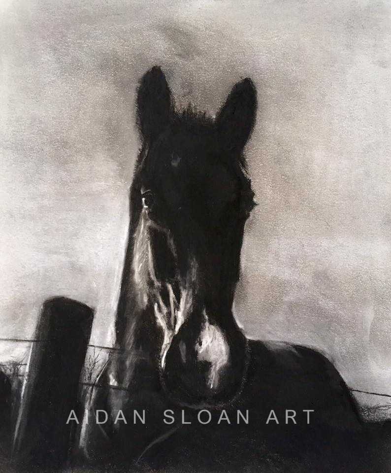 """Charcoal Horse"""