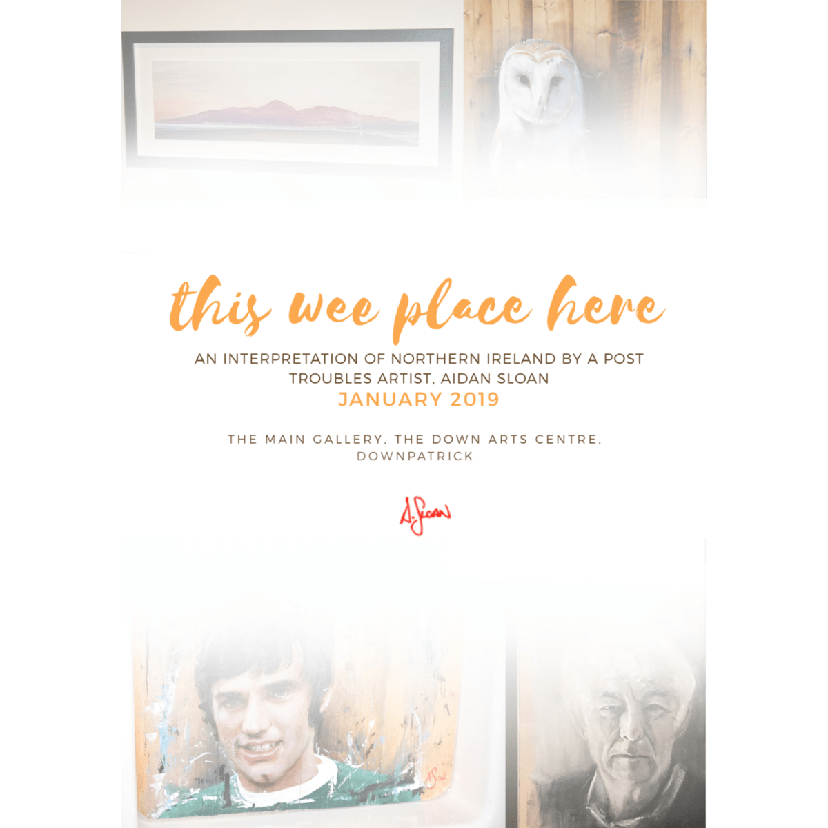 """This Wee Place Here"" solo exhibition 10/01/2019"
