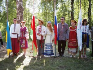 National flags and costumes