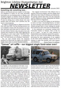 Autumn 2003 newsletter