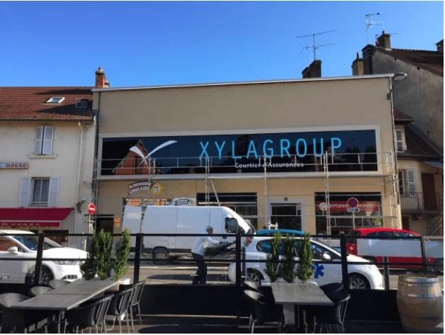 Façade de l'entreprise Xylassur de Lons le Saunier.