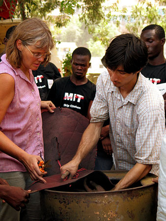 Amy Smith and Shawn Frayne in Cap Haitien doing a sugarcane charcoal training in 2006