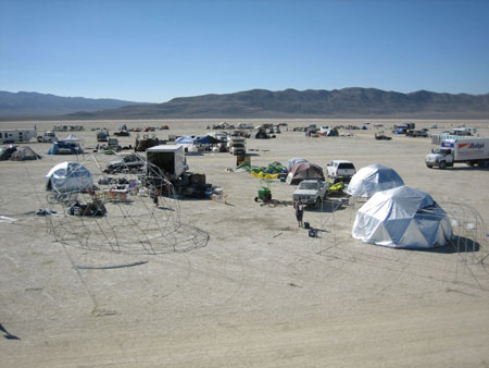 The view of our camp from the Lost Boys Tower across the street.