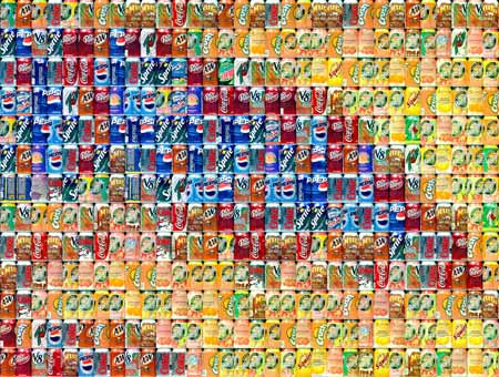 Cans Seurat: Detail at actual size