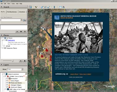 Holocaust Museum uses Google Earth to document genocide in Darfur