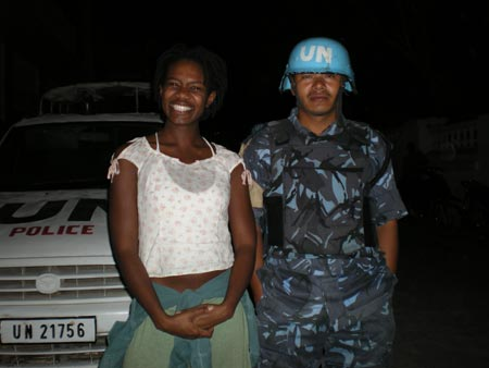 Cat and MINUSTAH Soldier