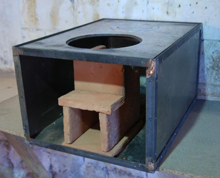 Combustion chamber: front view (without the front panel)