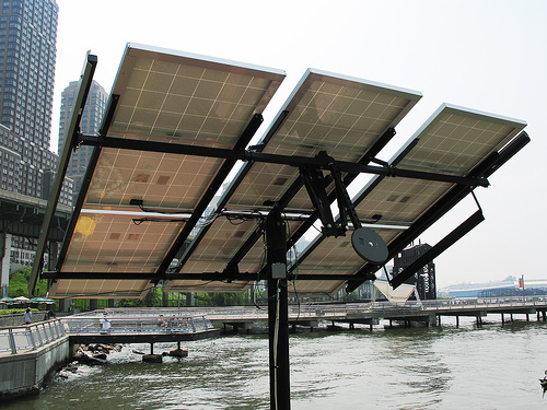 Science Barge: Solar array (underside)