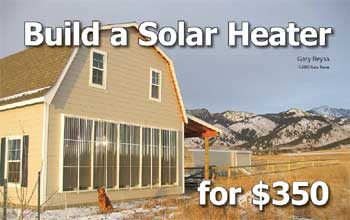Build a solar heater for $350