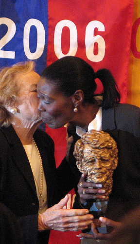 Sonia Pierre winning RFK Memorial Human Rights Award