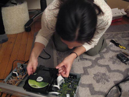Revealing the insides of a DVD player