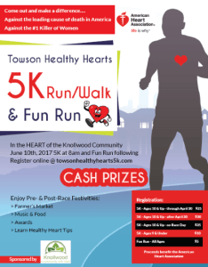 Towson Healthy Hearts 5K Run/Walk & Fun Run @ Knollwood Community | Towson | Maryland | United States