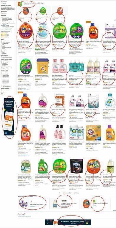 amazon first page, amazon sponsored ads