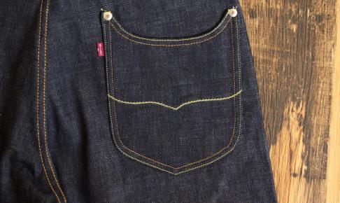 バックポケットの飾りステッチ