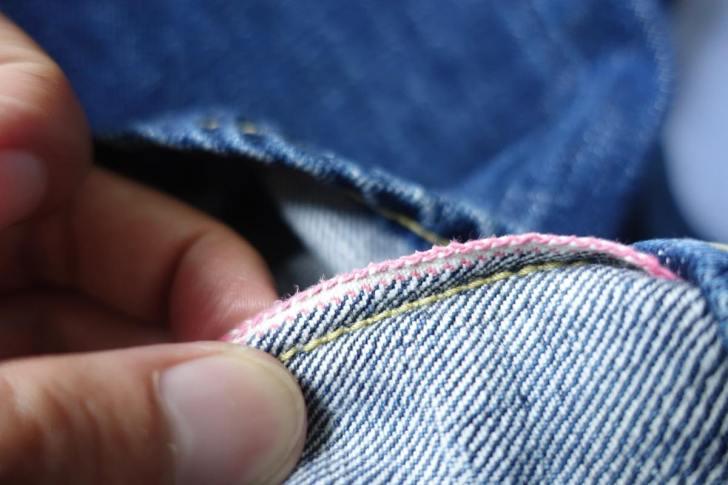 ジーンズの運針と縫製糸の番手とあたりの関係