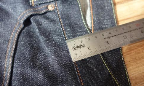 ジーンズの縫製 コバ