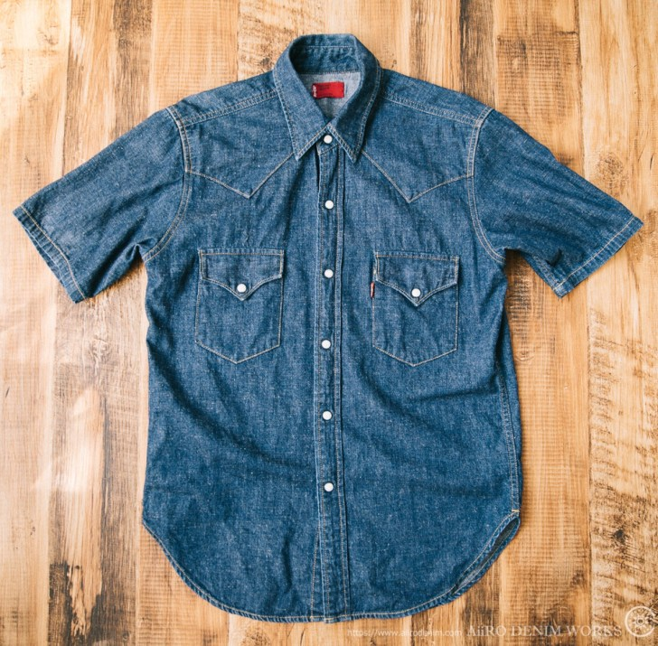 levis RED denim shirt