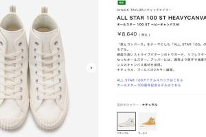 ALL STAR 100 ST HEAVYCANVAS HI コンバース