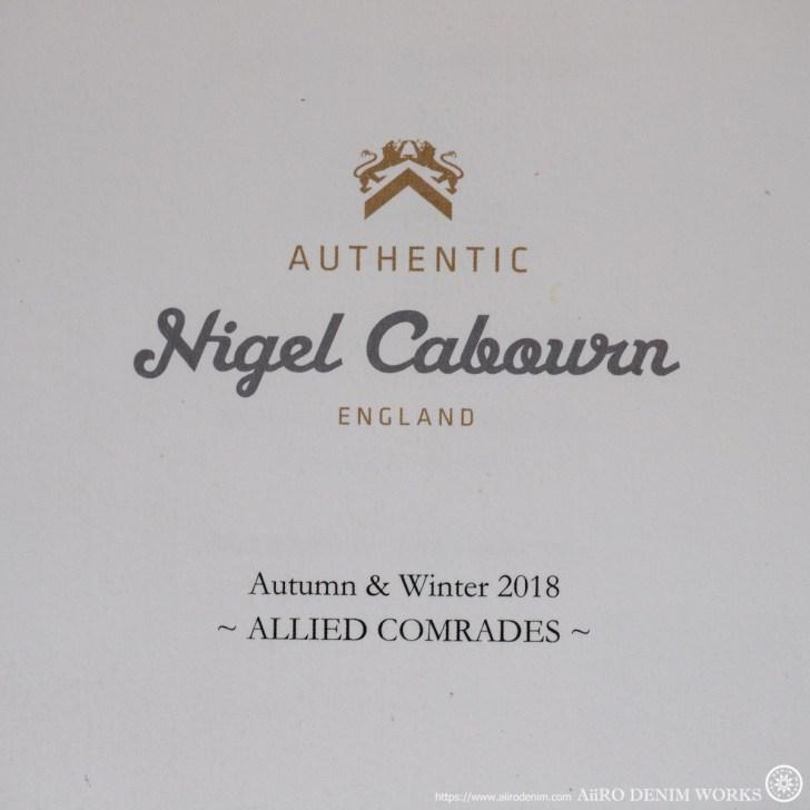 ナイジェルケーボン 2018FW Nigel Cabourn
