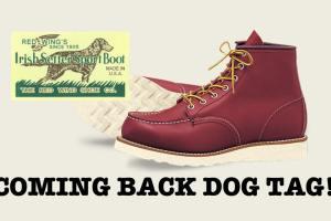 レッドウイング 犬タグ復活