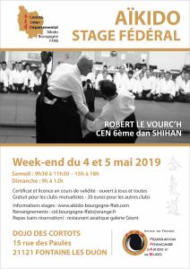 Stage Fédéral avec Robert le Vourc'h Shihan à Fontaine-Lès-Dijon les 4 et 5 mai