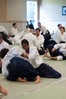 Kokyu exercises at the end of class