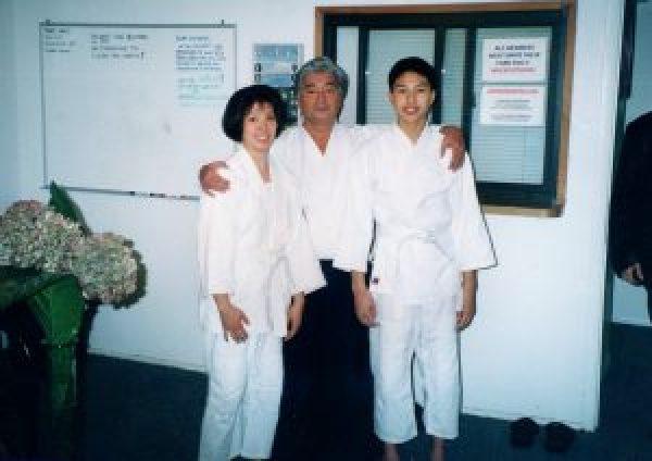 Lina, Yamada Sensei, and Andrew