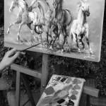 art design, art painting, Horse paint