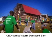 storm damaged barn