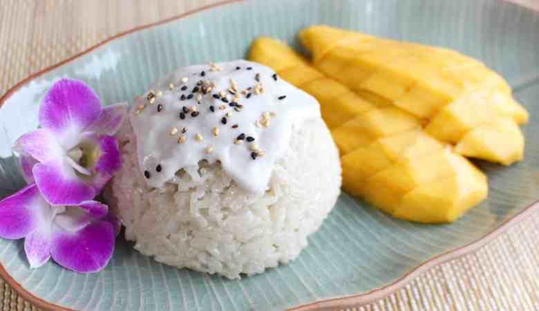 Mango with Sticky Rice (Khao Niao Mamuang) - Ai made it for you