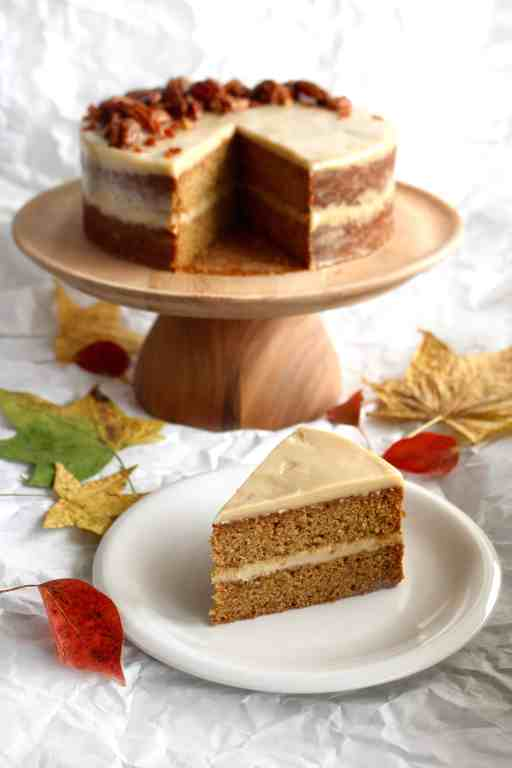 Excellent Sweet Potato Cake With Maple Cashew Frosting Ai Made It For You Personalised Birthday Cards Veneteletsinfo
