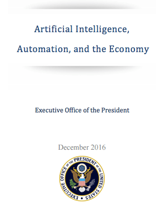 USA White House on Artificial Intelligence and Automation Economy