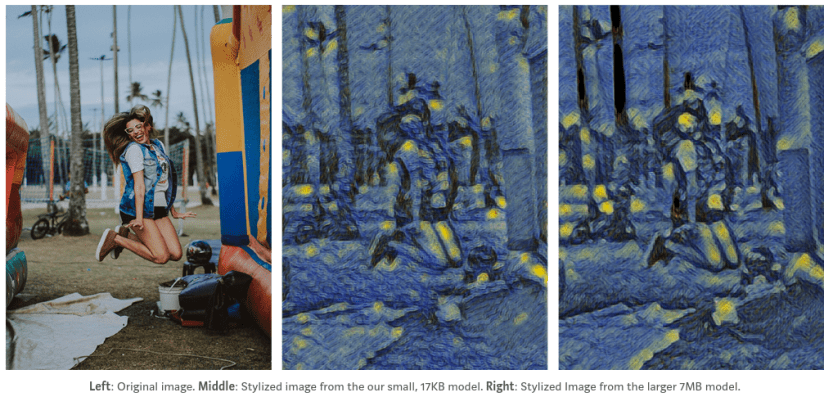 d1017: 17 kB style transfer model with just 11k weights | AI