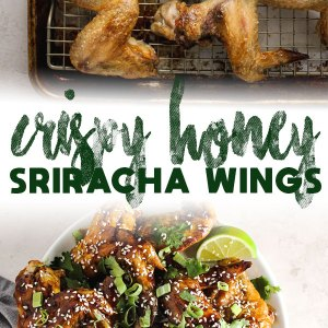 Crispy Honey Sriracha Wings   Aimee Mars   The Dinner Chef