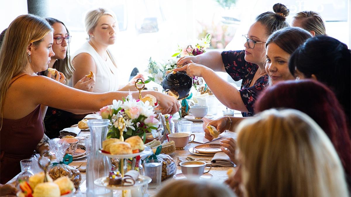 gender reveal high tea aimee provence