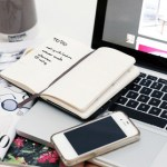 apple-mobile-phone-notebook-white