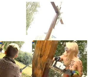 femen-croix sciée